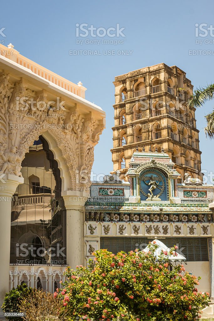 Bell Tower and Palace of Thanjavur. stock photo
