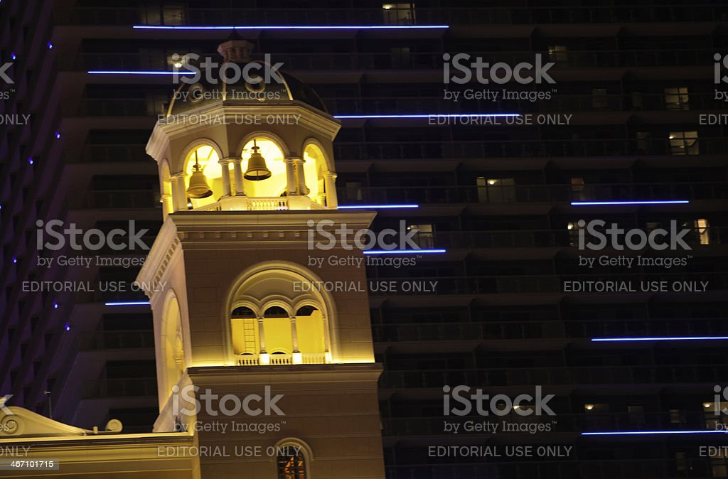 Bell Tower at Bellagio royalty-free stock photo