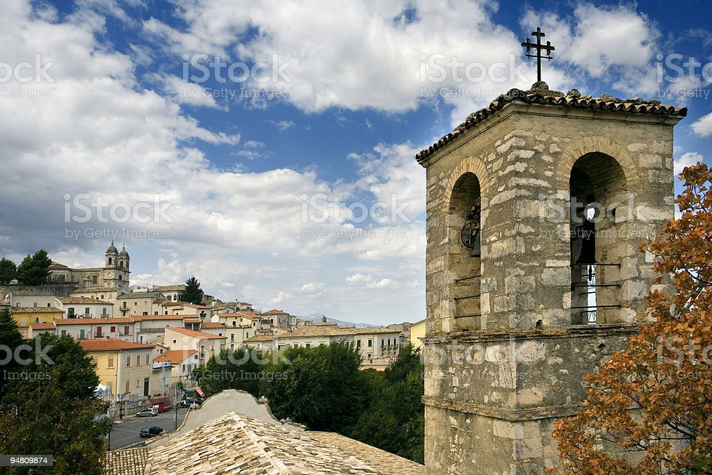 bell tower at san valentino royalty-free stock photo