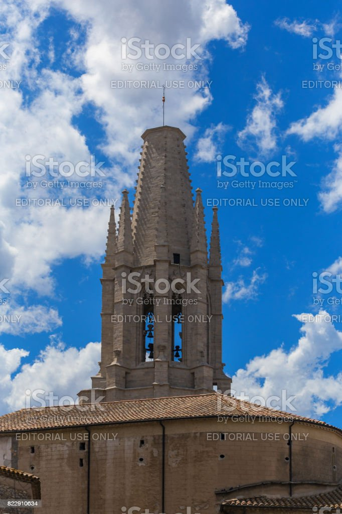 Bell tower basilica stock photo