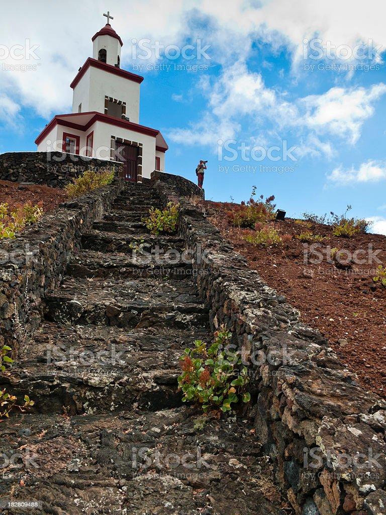 Bell Tower Campanario de Joapira, El Hierro stock photo