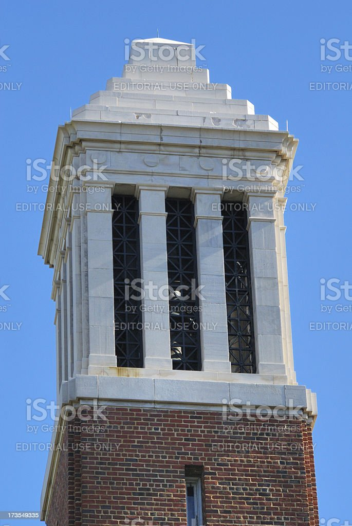 Bell tower close up stock photo