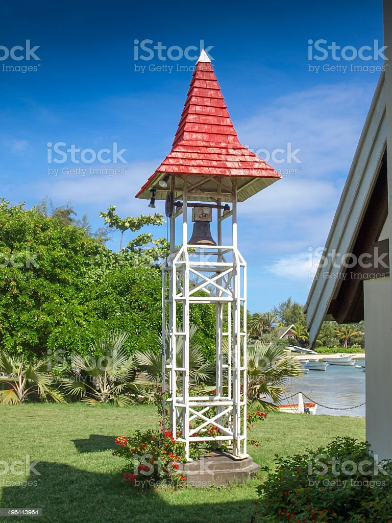 Bell tower in cap Malheureux royalty-free stock photo
