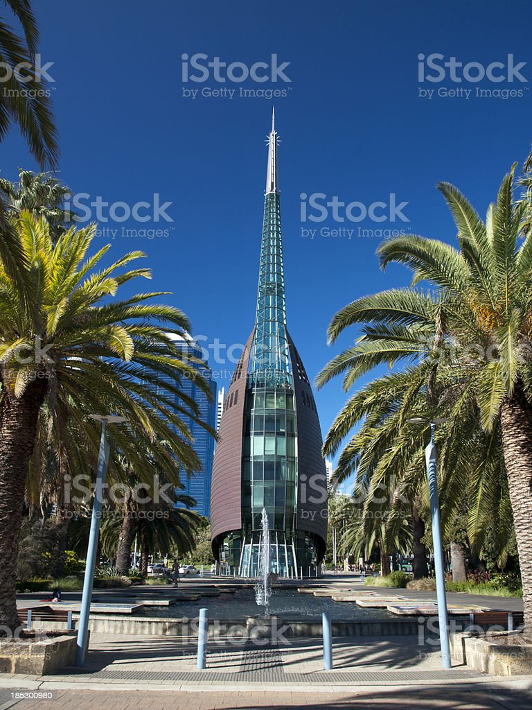 Bell tower in Perth, West Australia stock photo