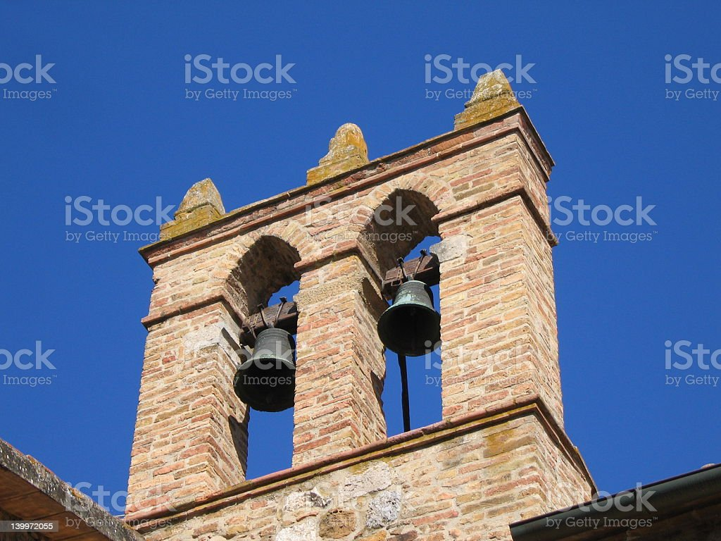 Bell Tower in Tuscany royalty-free stock photo