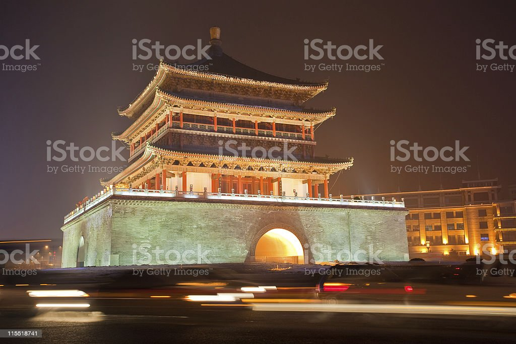 Bell Tower In Xi'an, China royalty-free stock photo