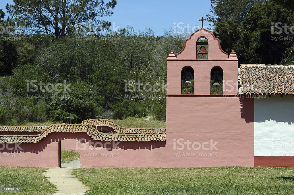 bell tower La Purisima Missio,n Lompoc, California royalty-free stock photo