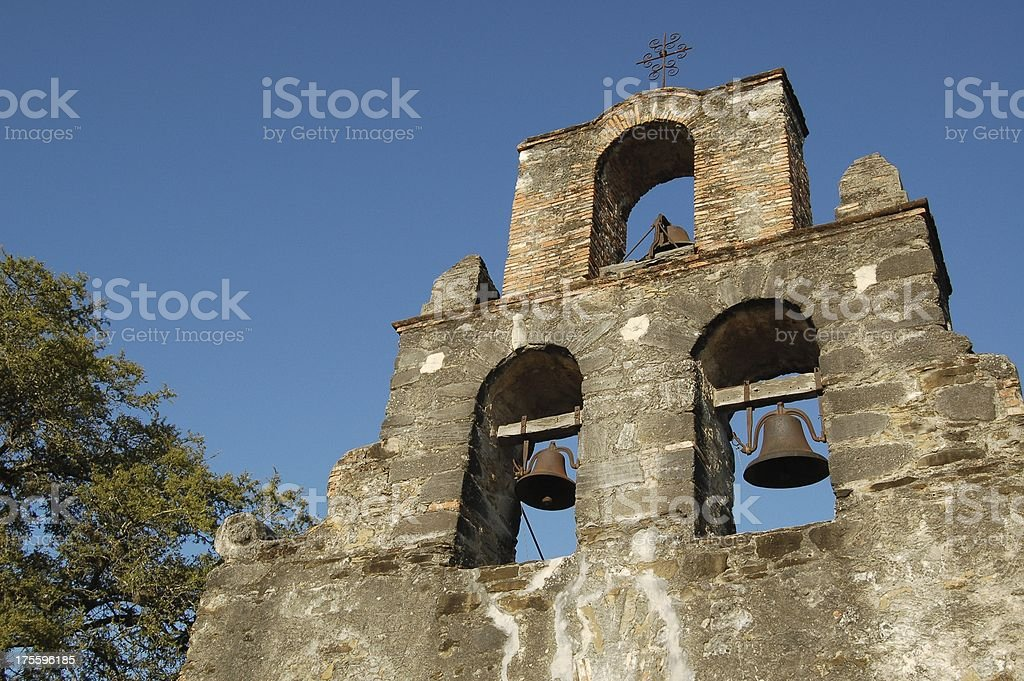 Bell Tower, Mission Espada royalty-free stock photo