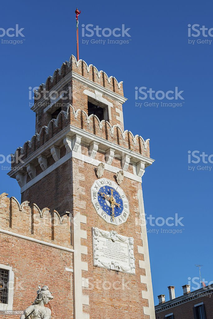Bell Tower of Arsenale in Venice royalty-free stock photo