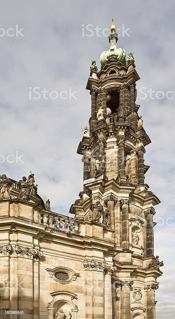 Bell tower of cathedral royalty-free stock photo