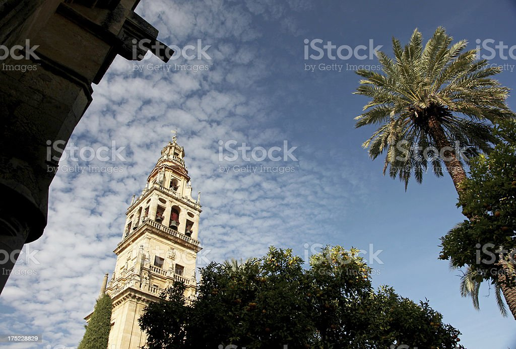 'Bell Tower of Mezquita Cathedral, Cordoba' stock photo