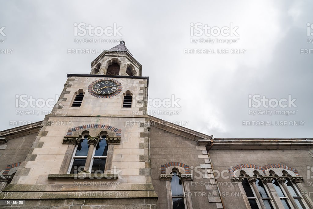 Bell tower of Saint Iberius Church in Wexford stock photo