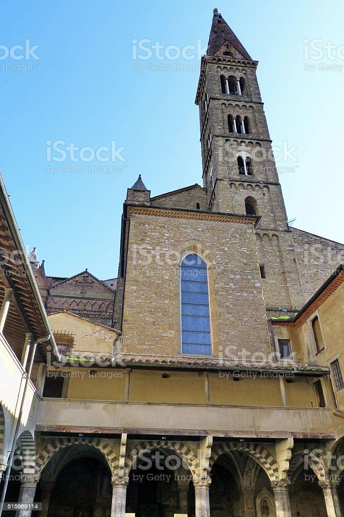 Bell tower of Santa Maria Novella church, Florence stock photo
