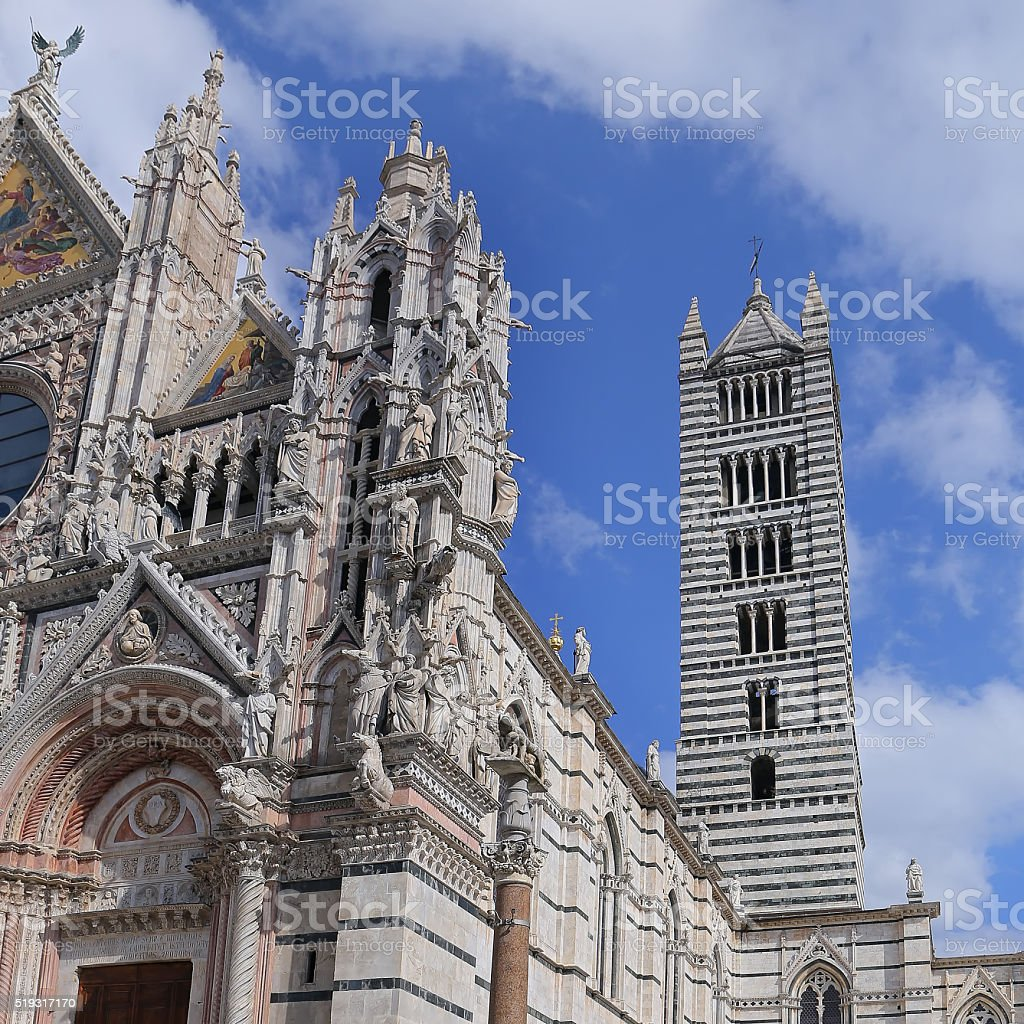 Bell Tower of Siena Cathedral - Italy stock photo