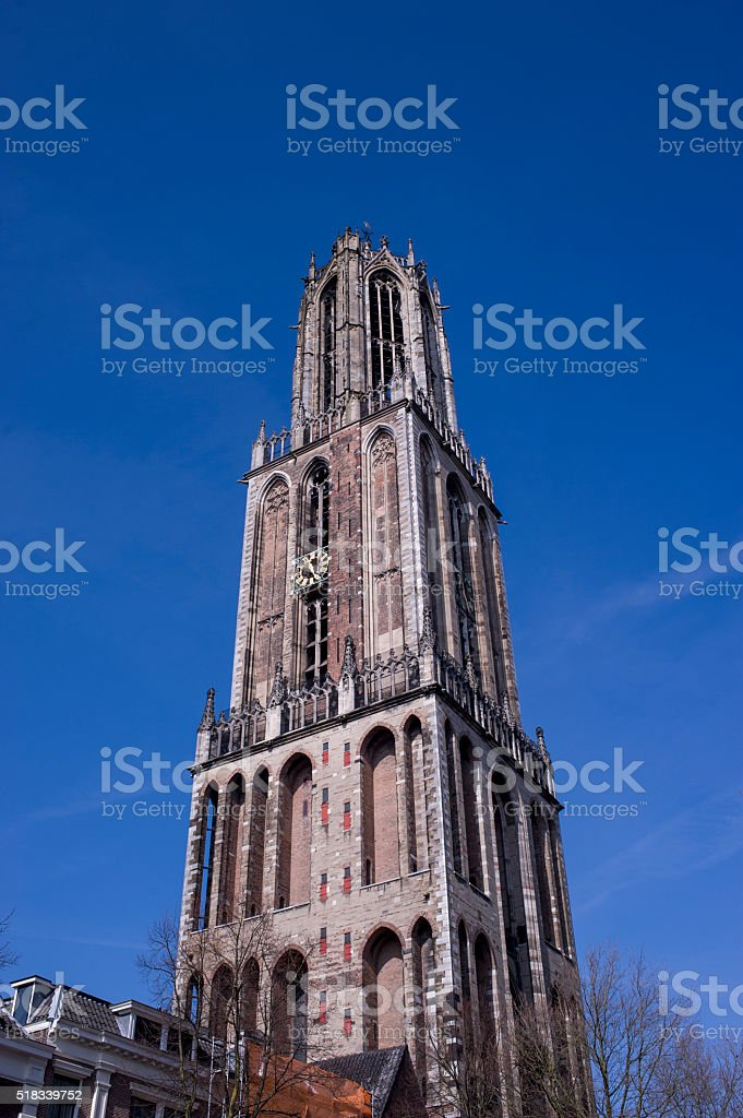 Bell tower of St. Martin's Cathedral stock photo