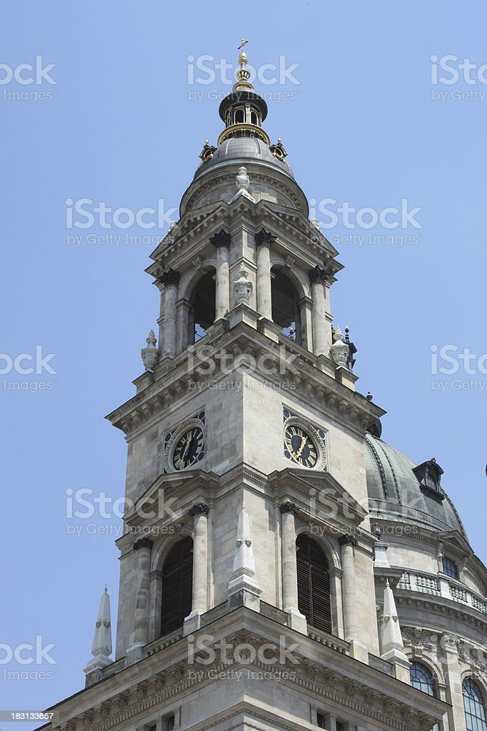Bell tower of St. Stephen Basilica royalty-free stock photo