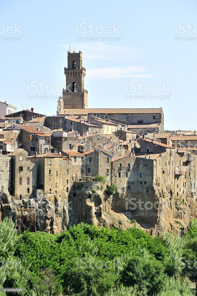 bell tower of the village stock photo