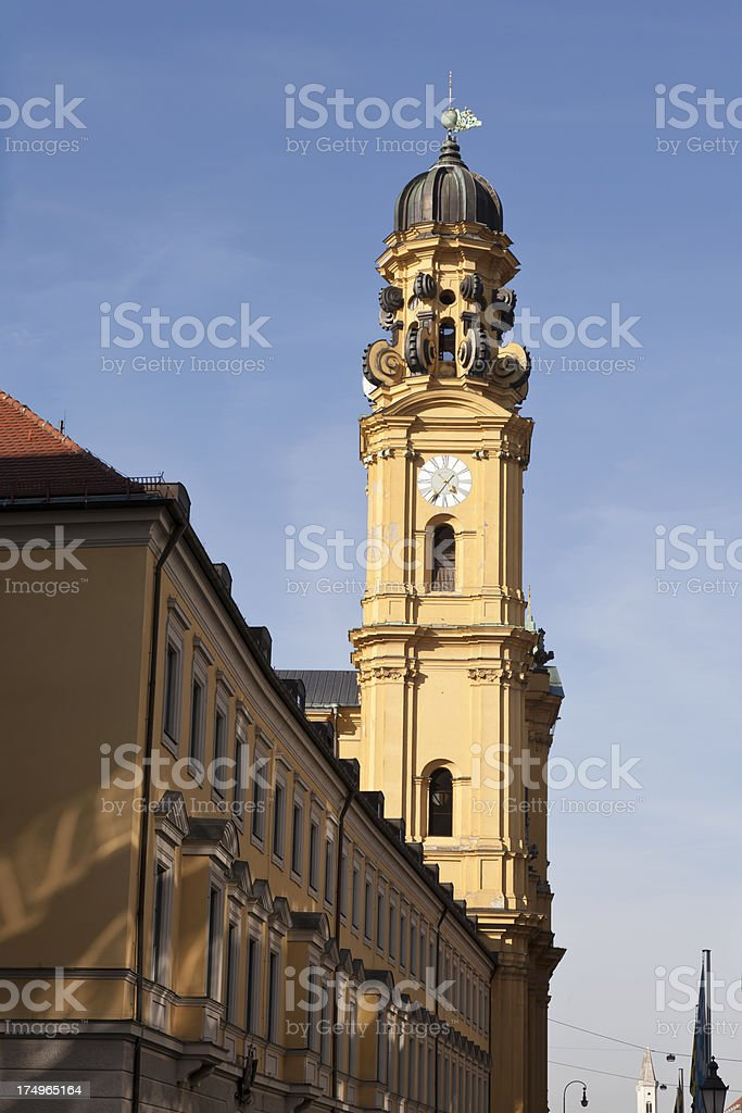 Bell tower of Theatine Church stock photo