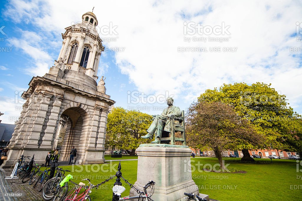 Bell Tower of Trinity College, Diblin, Ireland royalty-free stock photo