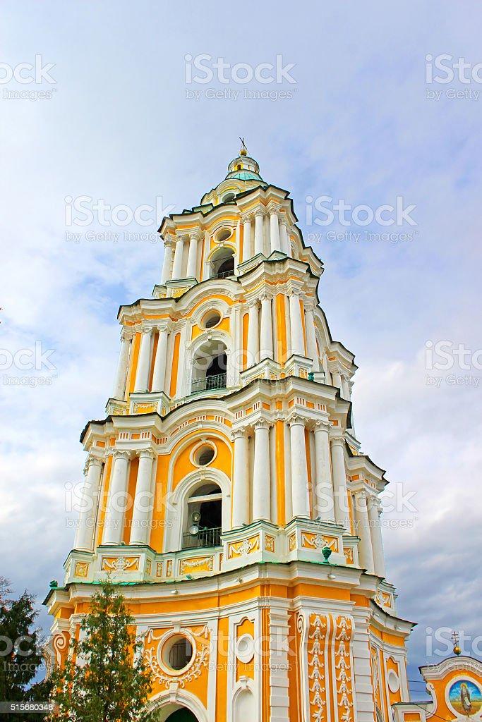 Bell tower of Trinity Monastery, Chernigov, Ukraine stock photo