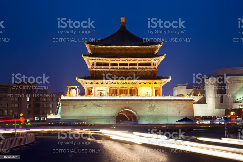 Bell tower of Xi'An. China royalty-free stock photo