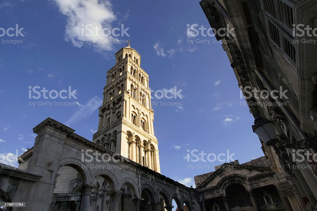 Bell Tower on the sunlight stock photo