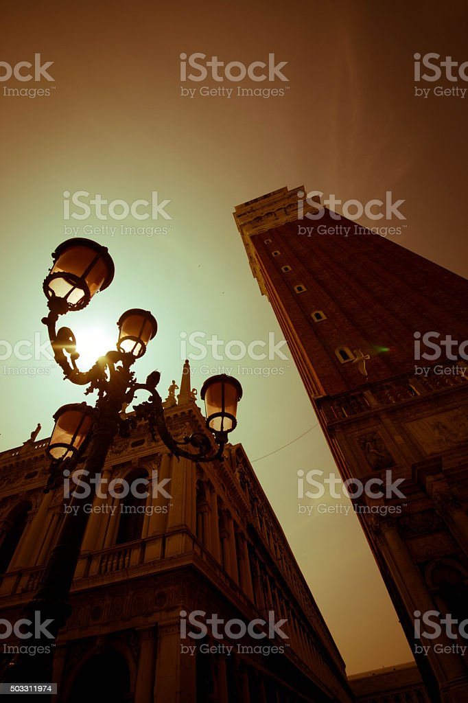 Bell Tower San Marco Venice stock photo