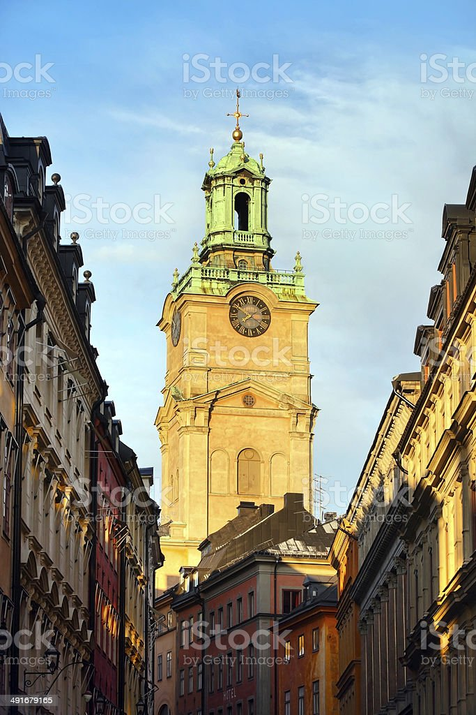 Bell Tower, Stockholm, Sweden stock photo
