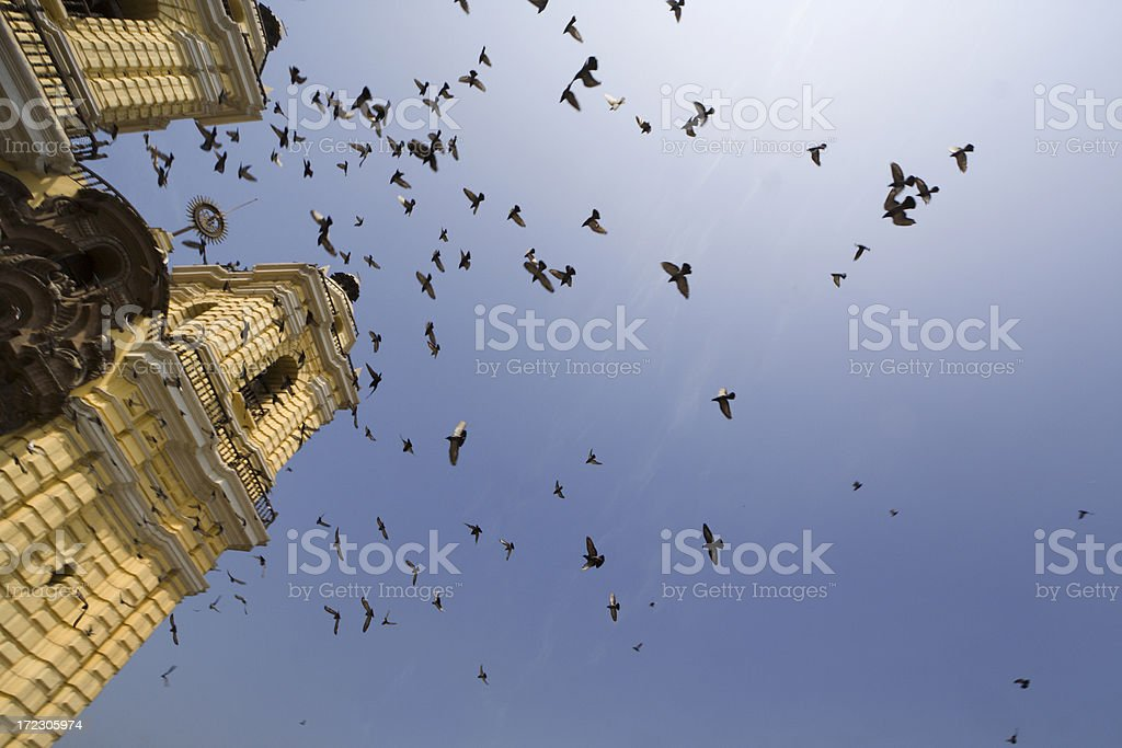 Bell Towers of the Monasterio de San Francisco royalty-free stock photo