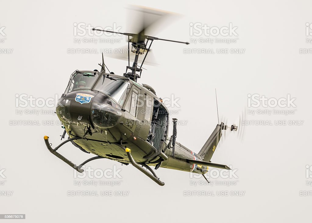 Bell UH-1H - Vietnam veteran Huey / Iroquois stock photo