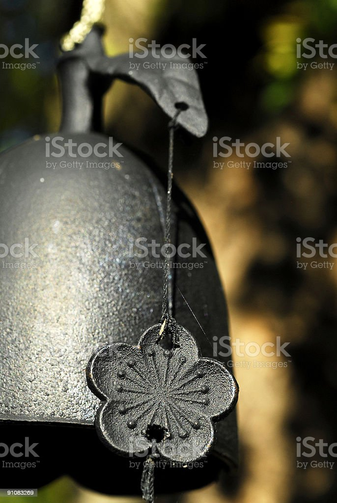 Bell wind chime , cast iron stock photo