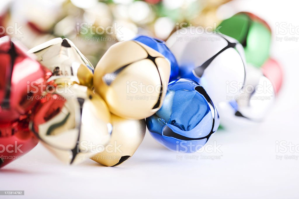 Bell Wreath Close Up for Christmas and Holidays, Copy Space royalty-free stock photo