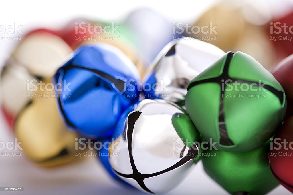 Bell Wreath Close Up for Christmas, Multicolored royalty-free stock photo