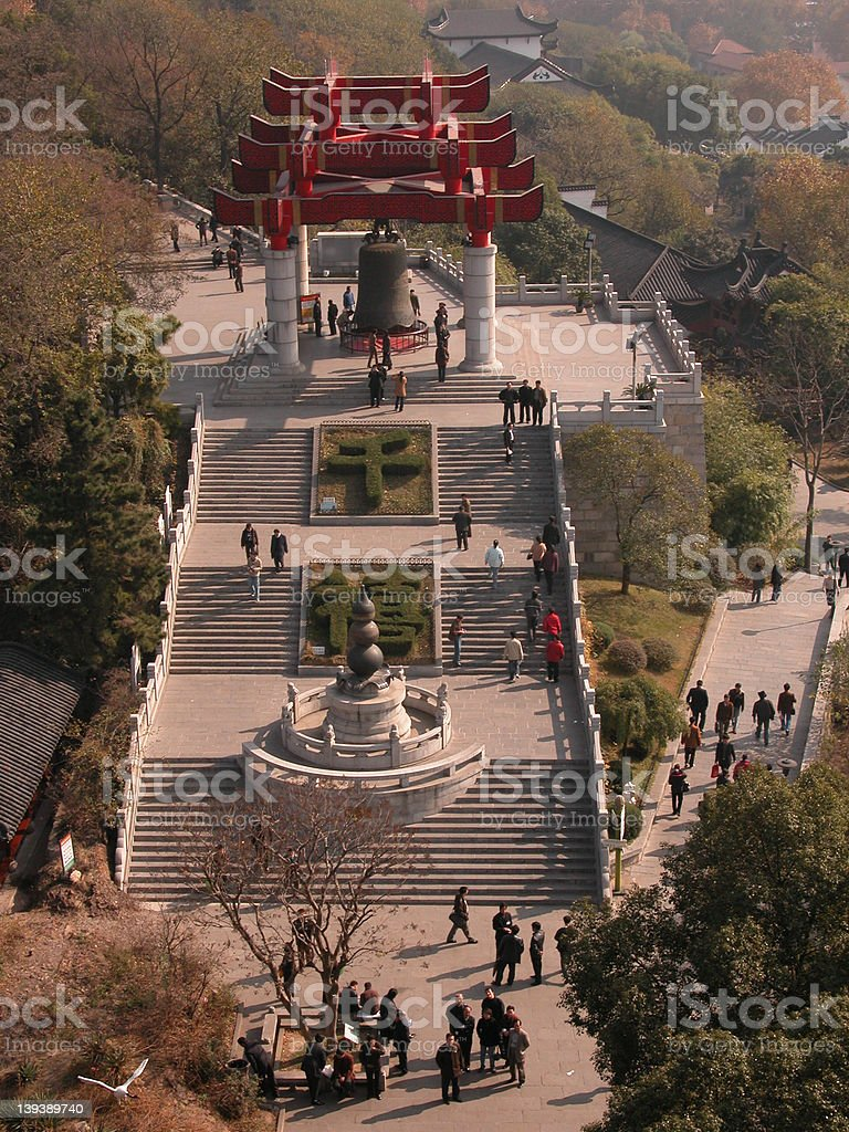 Bell, Yellow Crane Tower, Wuhan, China royalty-free stock photo