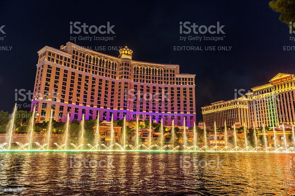 Bellagio Hotel Cacino and Caesars Palace, Las Vegas, USA stock photo