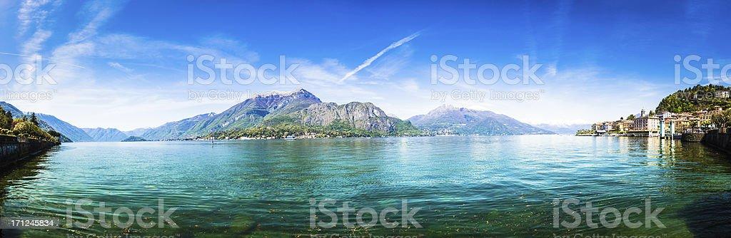 Bellagio on Como Lake Panorama, Italy royalty-free stock photo