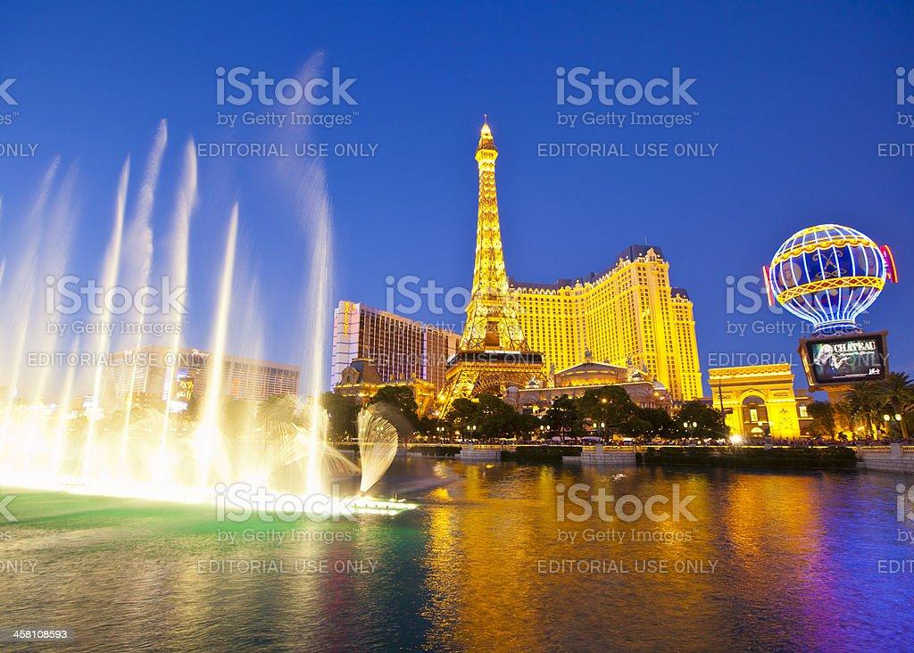 Bellagio, Paris and Bally's, Las Vegas, Nevada. royalty-free stock photo