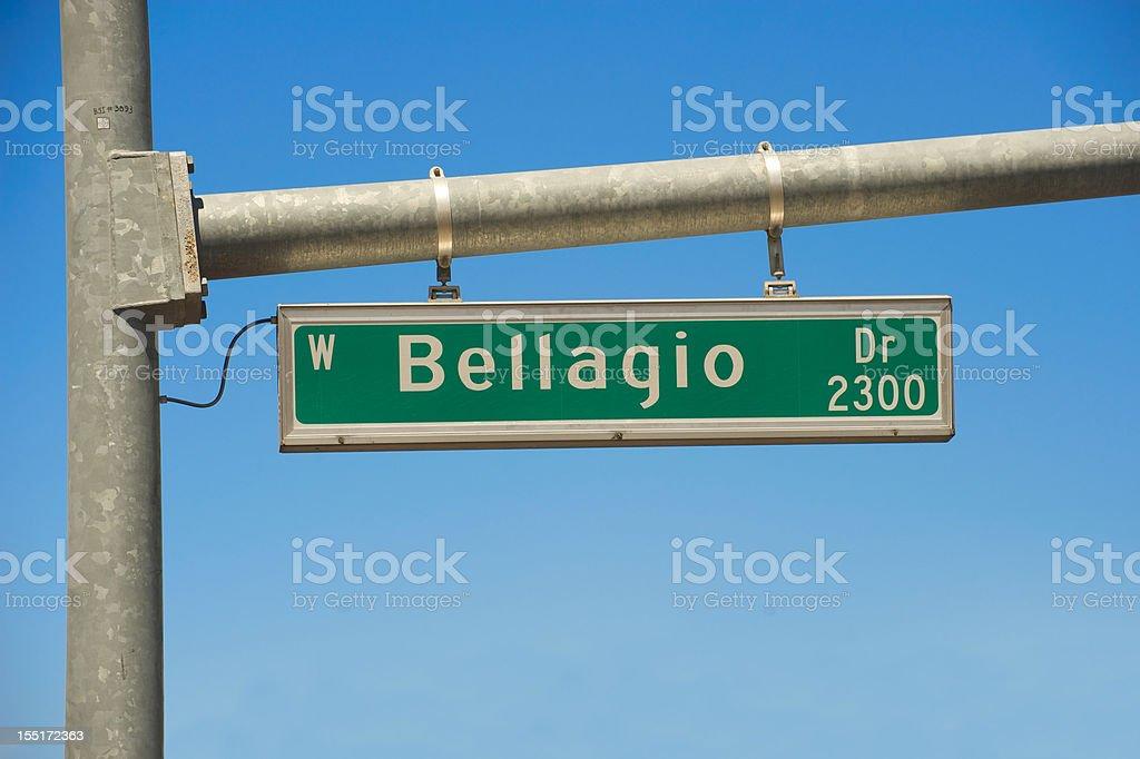 Bellagio sign in Las Vegas royalty-free stock photo