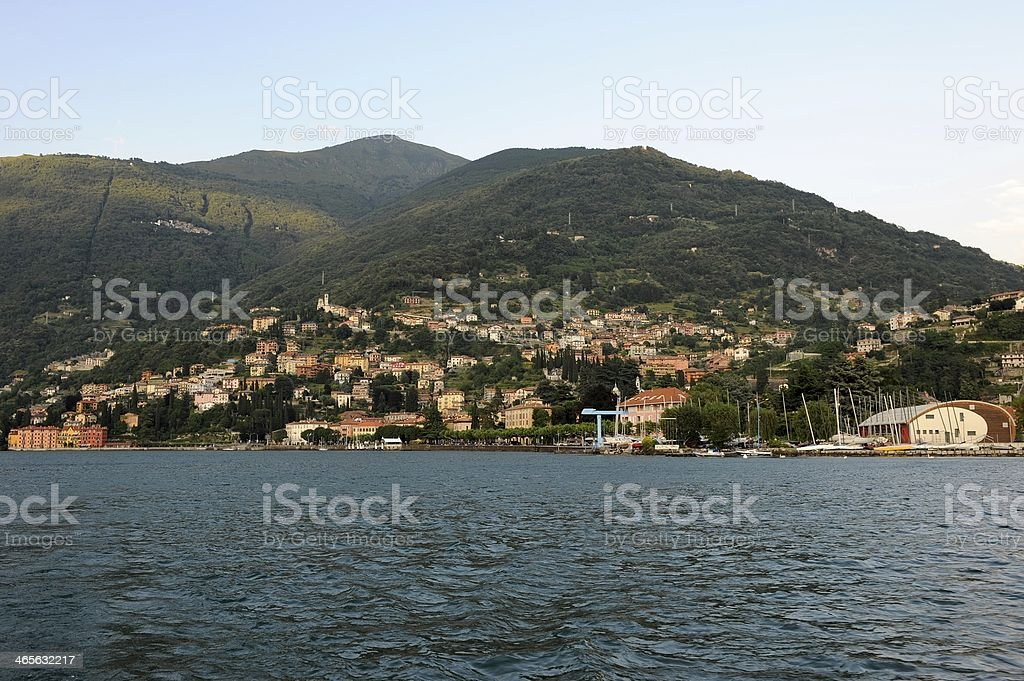 Bellano on Lake Como in early evening light royalty-free stock photo
