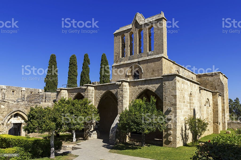 Bellapais Abbey near Kyrenia, Northern Cyprus stock photo
