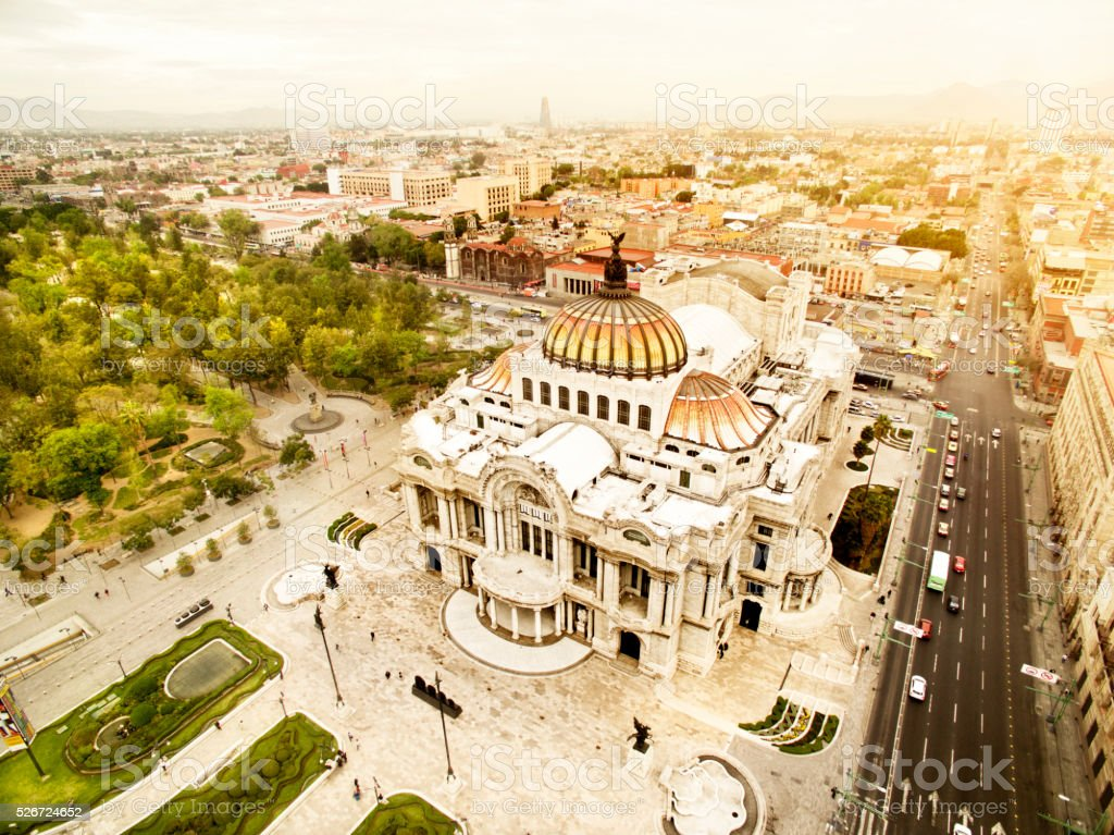 Bellas Artes Palace stock photo