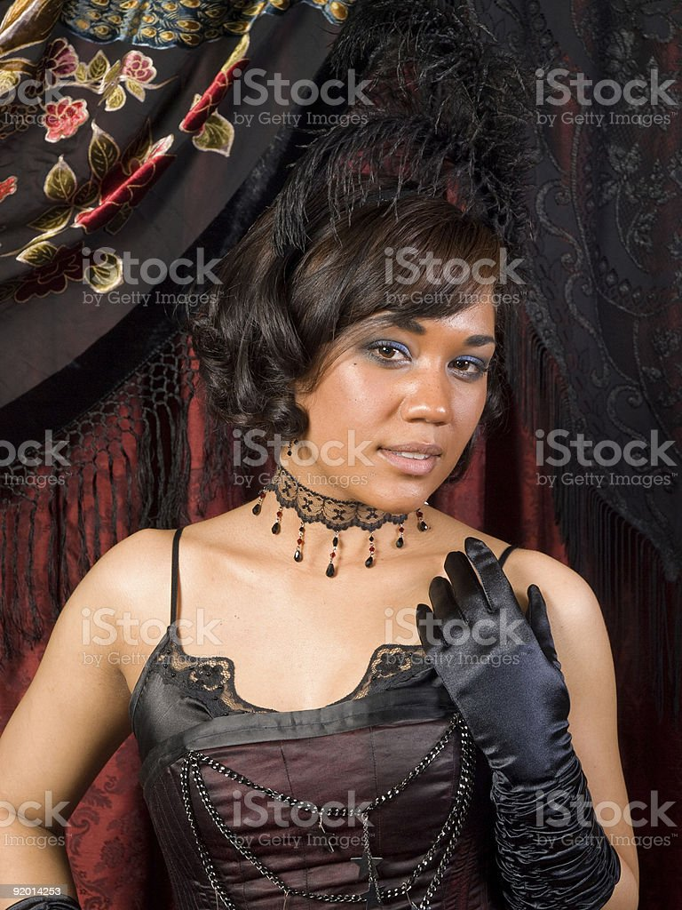 Belle Epoque Demure royalty-free stock photo