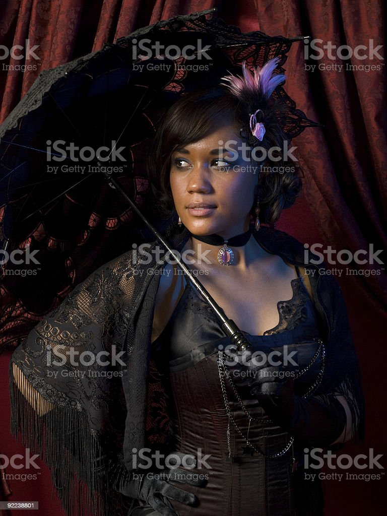 Belle Epoque Shadowy Glance royalty-free stock photo