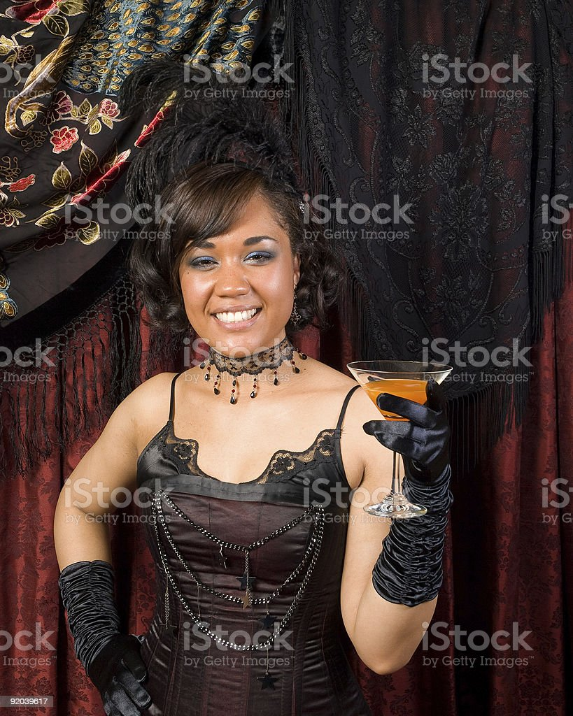 Belle Epoque Smile and Toast royalty-free stock photo