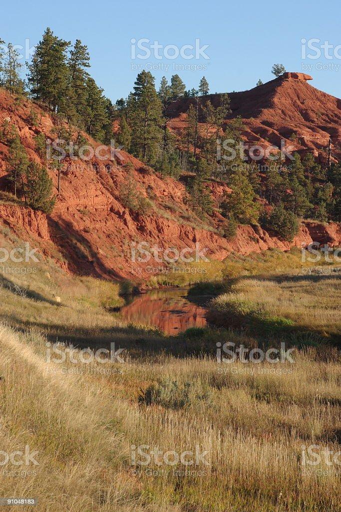 Belle Fourche River stock photo