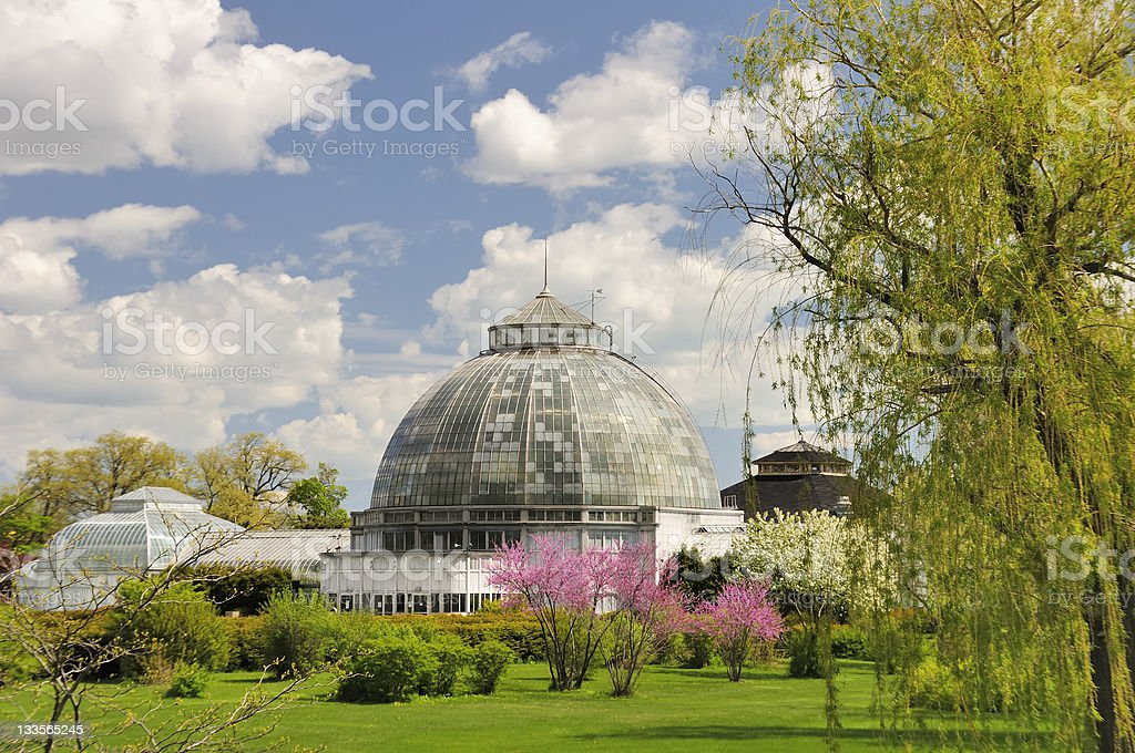 Belle Isle Conservatory stock photo
