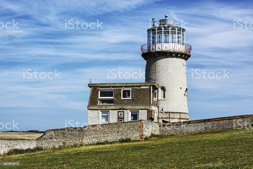 Belle Toute Lighthouse at Beachy Head, England stock photo