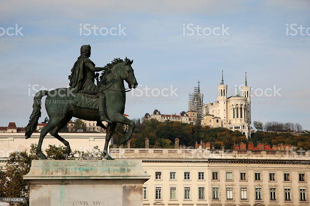 Bellecour Lyon stock photo