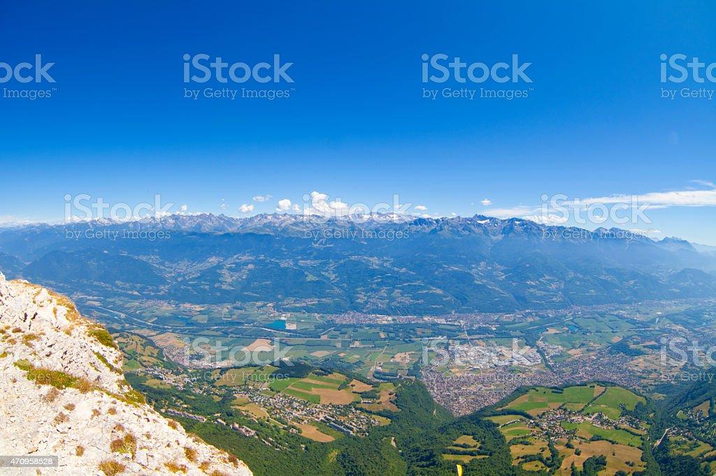 Belledonne Mountain Range stock photo