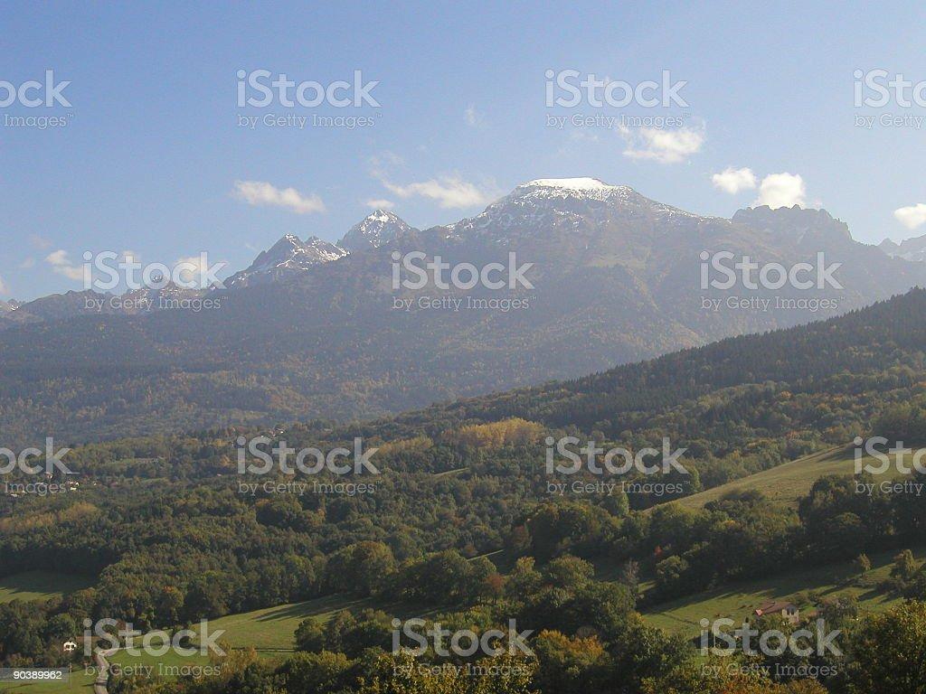 Belledonne Mountains stock photo
